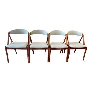1960s Danish Kai Kristiansen Model 31 Dining Chairs in Teak -Set of 4 For Sale