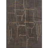 Image of Schumacher Movement Abstract Area Rug in Hand-Tufted Wool Silk, Patterson Flynn Martin For Sale
