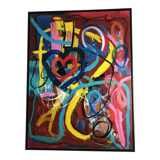 """""""Grafitti No Lessons"""" Abstract Painting For Sale"""