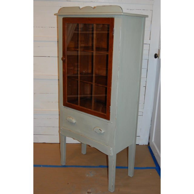 Antique Painted Display Cabinet - Image 6 of 10