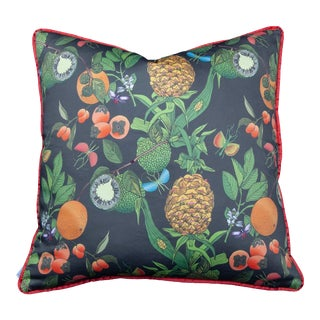 "20"" Pillow Pineapple Burnt Olive Burnt Orange Welt For Sale"