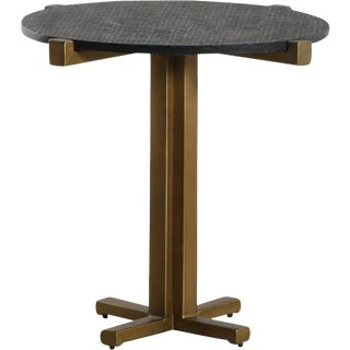 Contemporary Butler Marble Top Accent Table For Sale