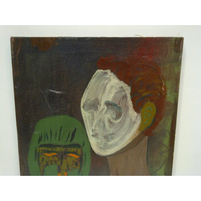 """Americana Original """"The Ghost & the Mask"""" Painting For Sale - Image 3 of 5"""