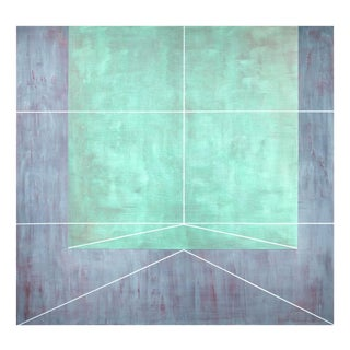 "Gudrun Mertes-Frady ""Viridian Field"" Painting For Sale"