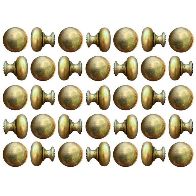 Metal Set of Thirty Five Bronze Knobs For Sale - Image 7 of 7