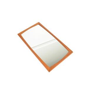 Danish Modern Aksel Kjersgaard Bowed Oak Wall Mirror For Sale