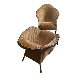 Mid-Century Italian Wicker Rattan Recliner Chairs - A Pair For Sale