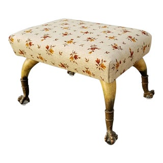 Vintage French Country Footstool For Sale