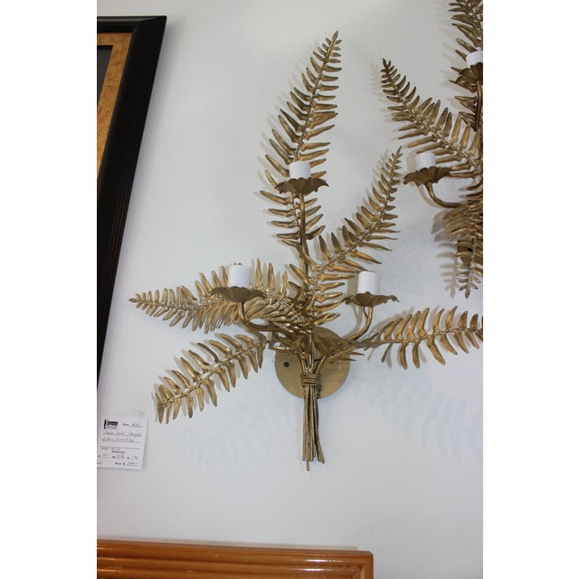 1960s Mid-Century Sconces Fern Motif - a Set of 2 For Sale - Image 5 of 13