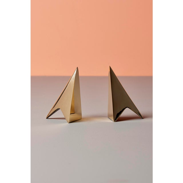 Gold Pair of Carl Auböck Bookends in a Patina and Polish Brass Mix For Sale - Image 8 of 8