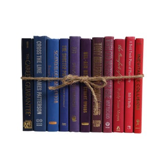 Modern Berry Ombré ColorPak : Decorative Books in Shades of Dark Blue to Red For Sale