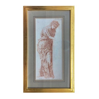 19th Century Italian Old Master Sepia Drawing For Sale