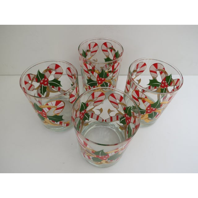 Culver Candy Cane Glasses - S/4 - Image 4 of 6