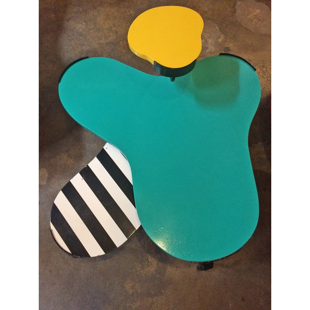 Memphis Inspired Side Table by Harry Siegel - Image 5 of 6