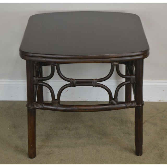 Vintage Rattan Pair Side Tables For Sale In Philadelphia - Image 6 of 13