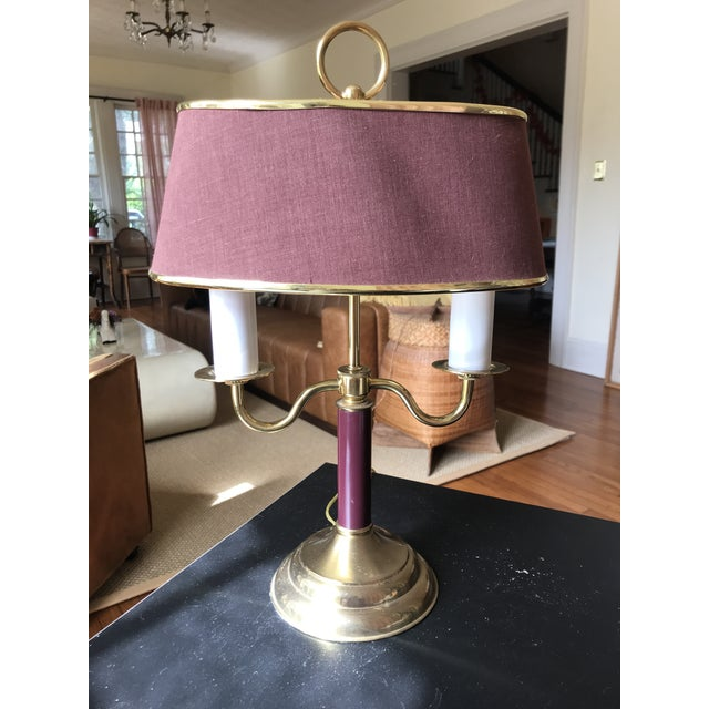 Empire 1940s Vintage Double Candle Bouillotte Lamp For Sale - Image 3 of 12
