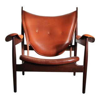 1990s Finn Juhl Chieftain Chair in Mahogany by Interior Crafts For Sale