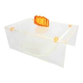 Mid-Century Lucite Trinket Box For Sale