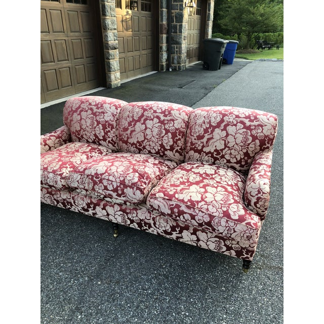 Traditional George Smith Japonais Spice Fabric Sofa For Sale - Image 3 of 11