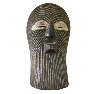1980s African Songye Kifwebe Wooden Bird Mask For Sale