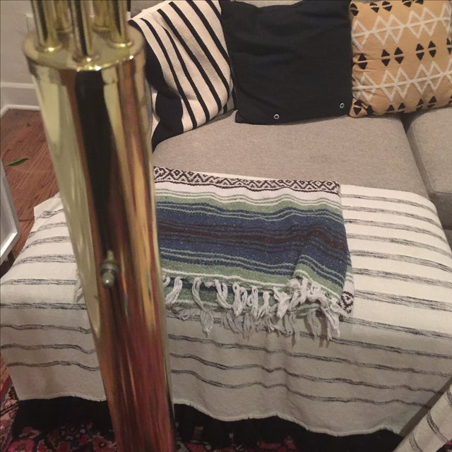 Vintage Glam Arco Style Brass Lamp - Image 3 of 5