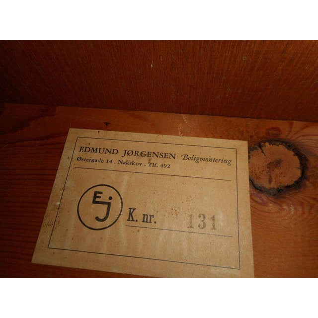 Vintage Edmund Jorgensen Modern Rosewood Draw Leaf Dining Table For Sale - Image 5 of 9