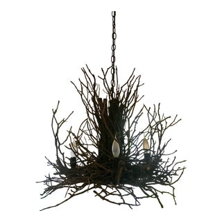 Wish Designs Mini Appalachian Branch / Twig Chandelier For Sale