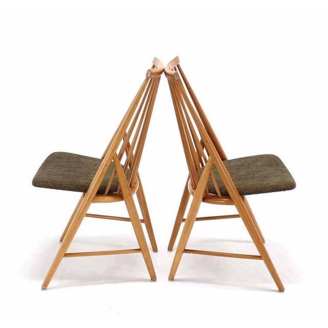 Pair of Swedish Spindle Dowel Back Chairs For Sale - Image 9 of 10