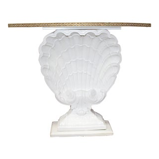 Hollywood Regency Shell Demilune For Sale