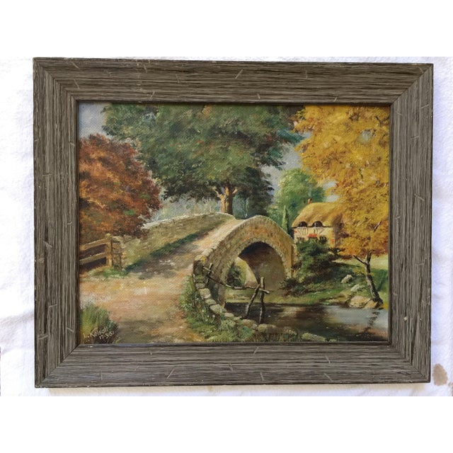 English Stone Bridge Oil Painting For Sale In Atlanta - Image 6 of 6