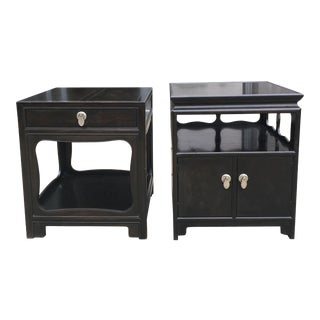 1950s Chinoiserie Michael Taylor for Baker Furniture End Tables - a Pair
