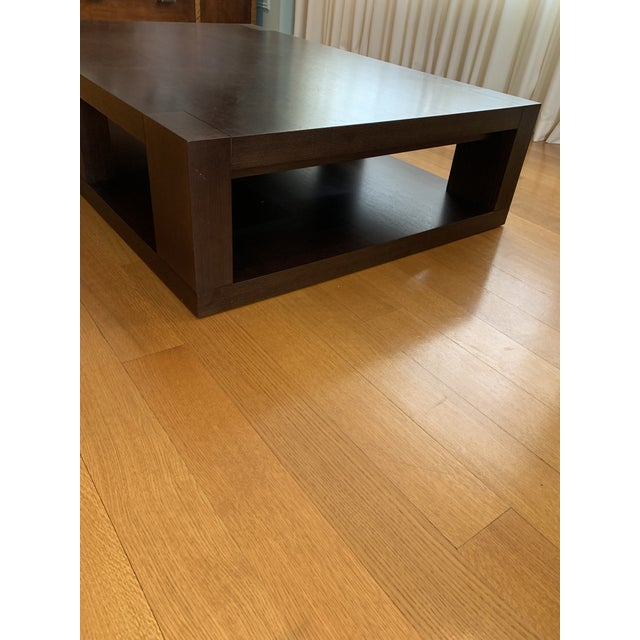 Christian Liaigre Contemporary Walnut Coffee Table For Sale - Image 11 of 13