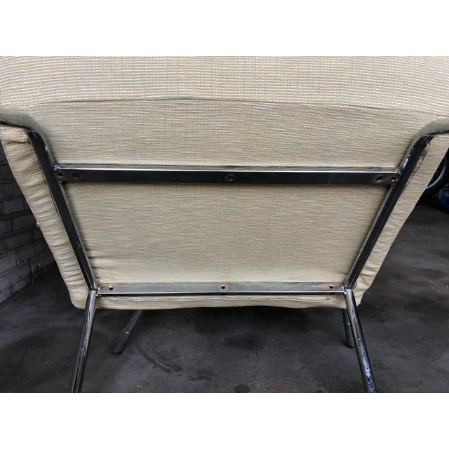 1990s Roche Bobois Chrome Lounge Chairs - a Pair For Sale - Image 11 of 13