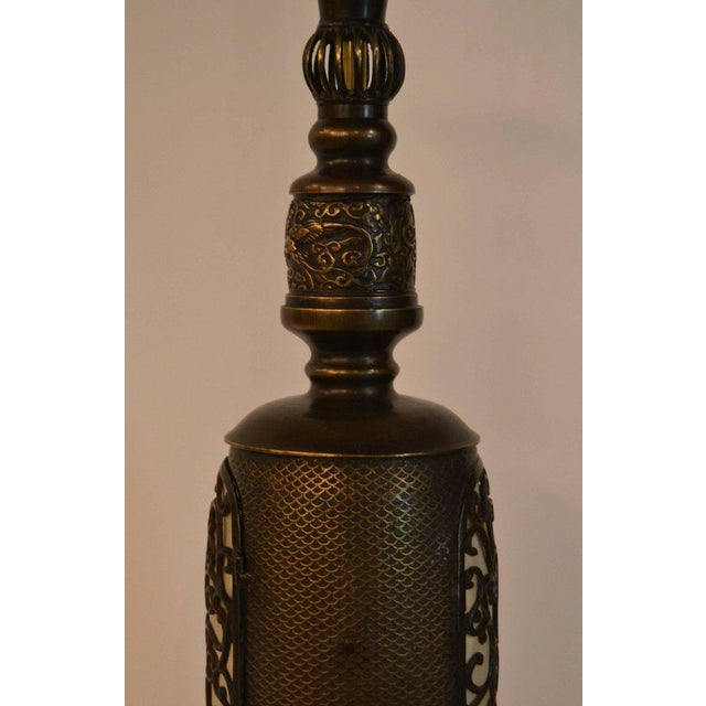 Late 19th Century Antique Chinese Bronze Lantern Lamp For Sale - Image 5 of 7