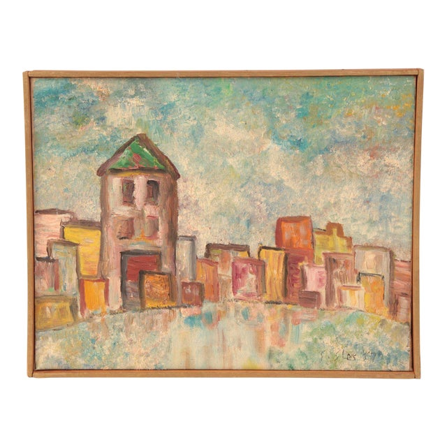 Early Oil on Linen Landscape Painting by Steven Sles For Sale
