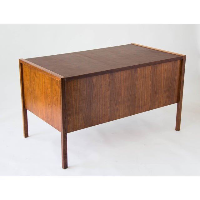 Jens Risom Walnut Desk with Leather Writing Surface For Sale In Los Angeles - Image 6 of 11