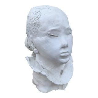 Vintage White Plaster Bust For Sale