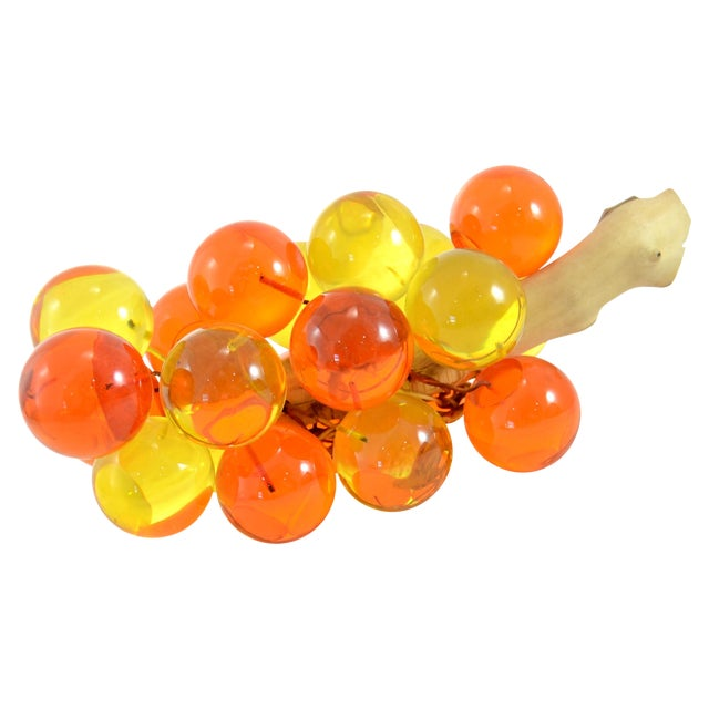 1960s Orange & Yellow Lucite Grapes - Image 1 of 7