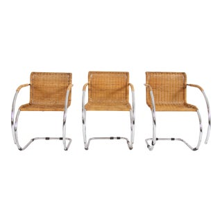 Mies Van Der Rohe Mr Chrome Chairs - Set of 3 For Sale