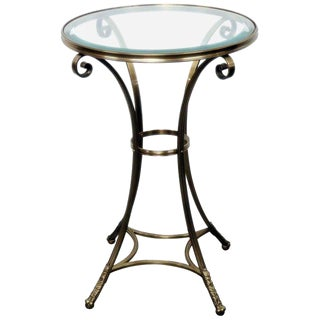 Hollywood Regency Style Glass Top Gueridon For Sale