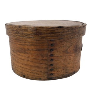 1910s Primitive e.b Frye and Son Wilton, Nh Antique Lidded Bentwood Pantry Box For Sale