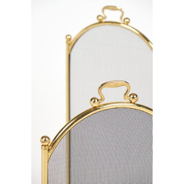 Vintage French Neoclassical Brass Fire Screen For Sale In Austin - Image 6 of 10