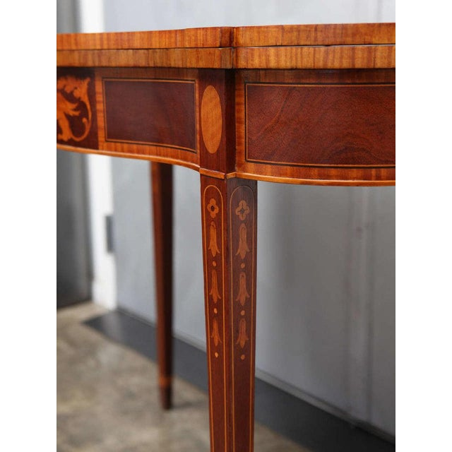 1910s Federal Style Mahogany Game Table For Sale - Image 5 of 9
