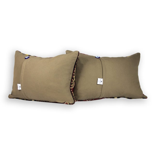 Ethnic Chic Lumbar Pillows - A Pair - Image 3 of 3