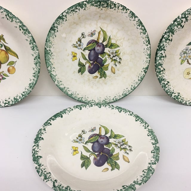 Italian Tre Ci Fruit Plates - Set of 6 For Sale In Boston - Image 6 of 11