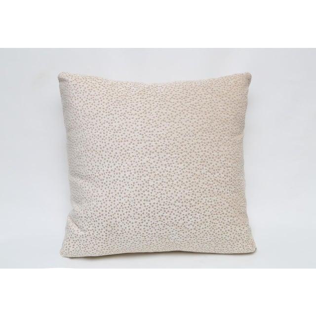 Contemporary Kravet Chenille Polka Dot Pillow For Sale - Image 3 of 3