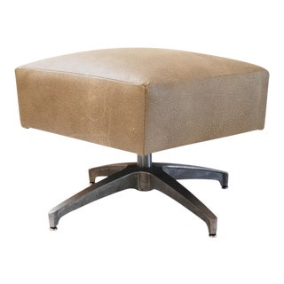Eames-Style Ottoman in Faux Shagreen For Sale