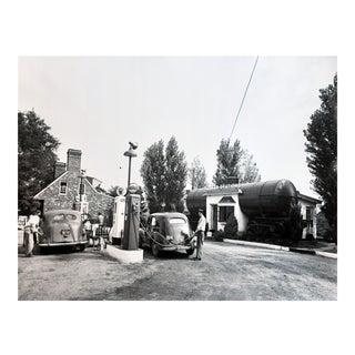 Vintage Gas Station Photograph