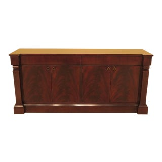 Baker Large 4 Door Modern Mahogany Sideboard Console For Sale