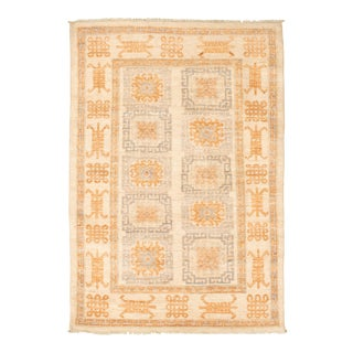 Bohemian Tribal Hand-Knotted Rug For Sale
